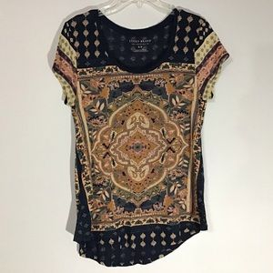 Lucky Brand short sleeved Boho tee
